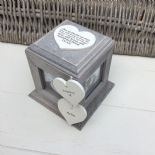 Shabby Chic PERSONALISED Rustic Wood In Memory Of DAD Photo Cube ANY NAMES - 332869710392